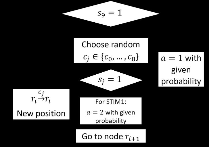 Block-diagram representing modelling algorithm